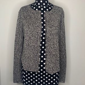 Eileen Fisher Gray Tweed Knit Jacket/Cardigan S